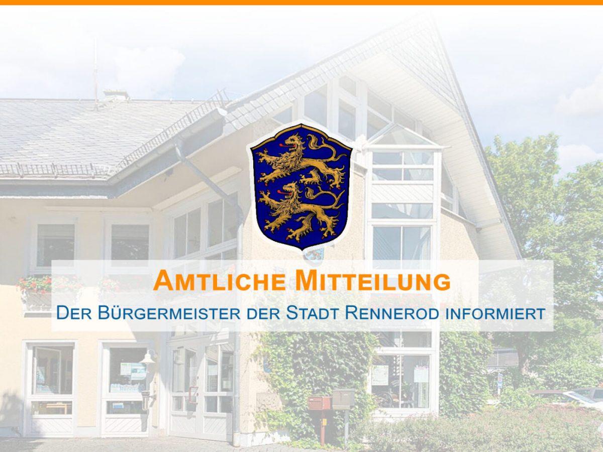 Amtliche Mitteilung Stadt Rennerod