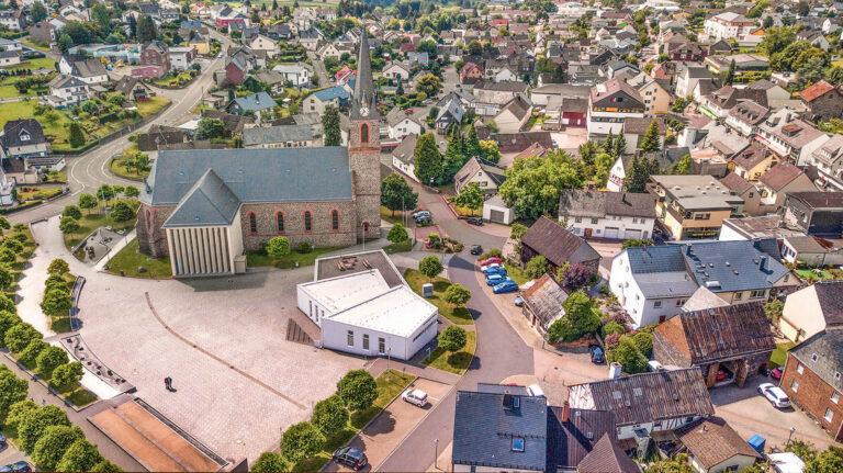 Luftaufnahme St.-Hubertus-Platz Rennerod