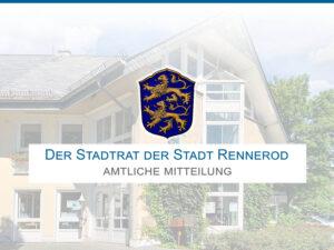 Amtliche Mitteilung Stadtrat Rennerod